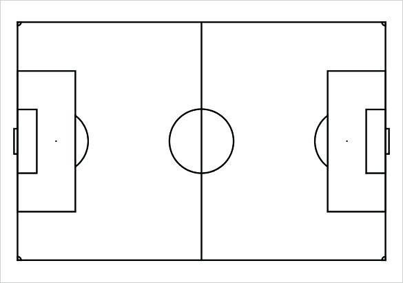 Blank Offensive Football Template