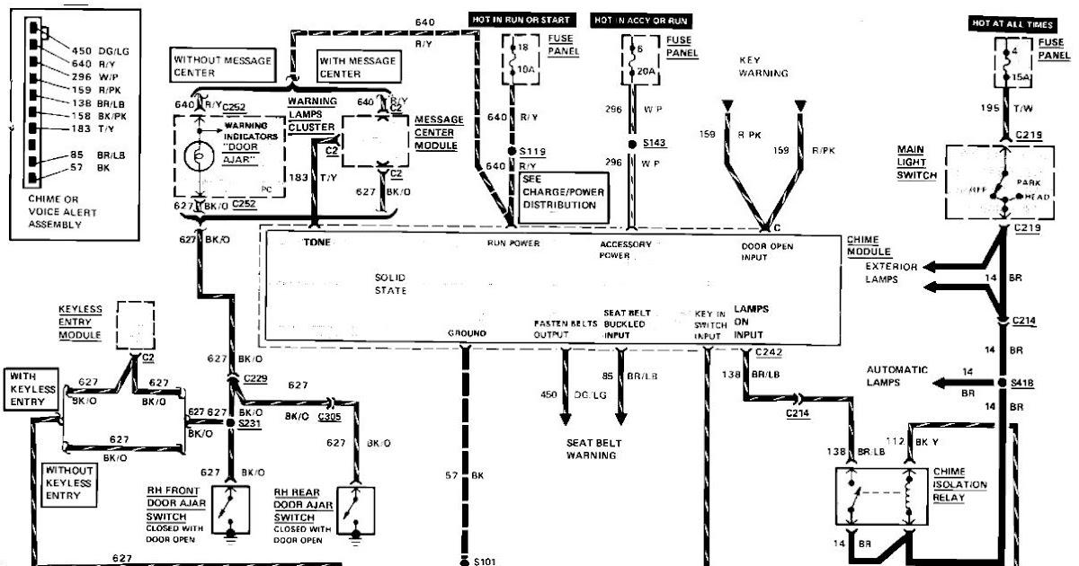 957 Thunderbird Radio Wiring Diagram : 1997 Ford Stereo