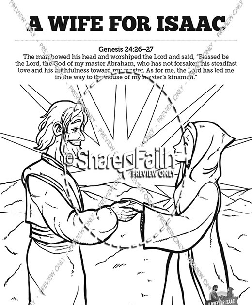 17 Luxury Isaac And Rebekah Coloring Pages