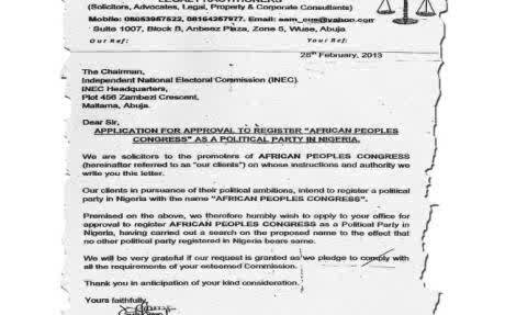 Wale Akala Blog: Picture Showing Application Letter To