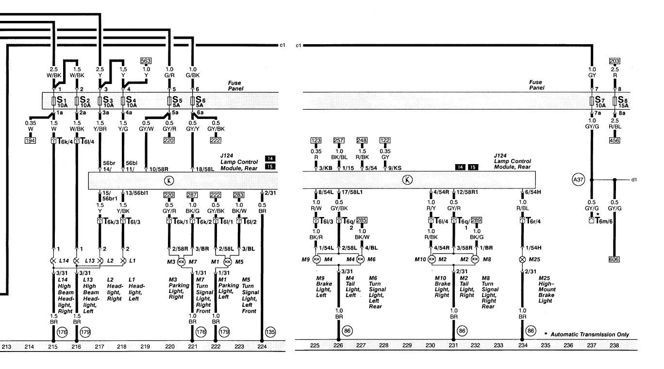 audi a4 headlight wiring diagram