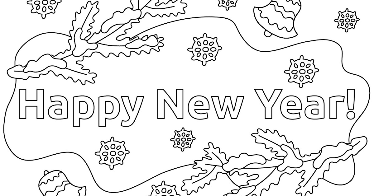Malvorlage Neues Jahr