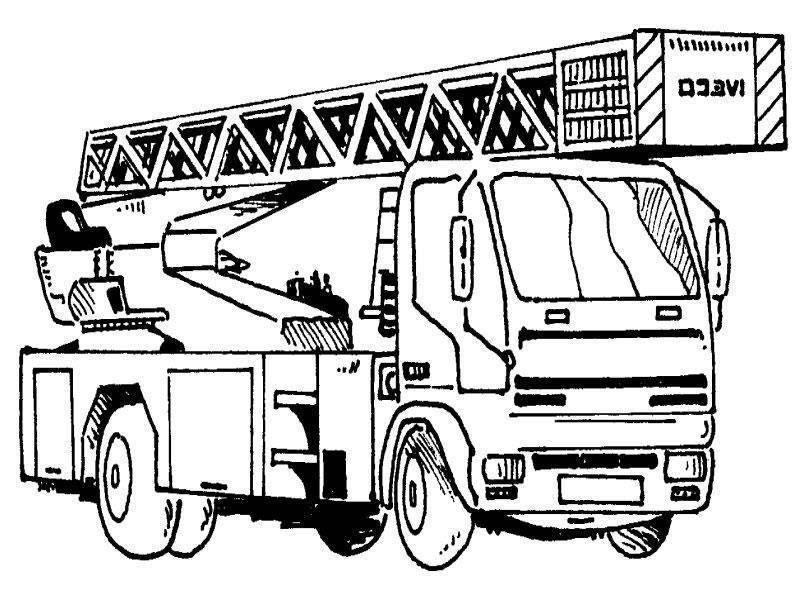Feuerwehrauto Feuerwehr Ausmalbild - Cartoon-Bild