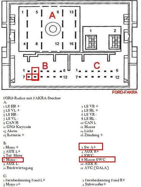 2005 Ford Mustang Radio Wiring Diagram / 2005 Ford Mustang