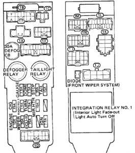 1987 Toyotum Camry Fuse Box Diagram