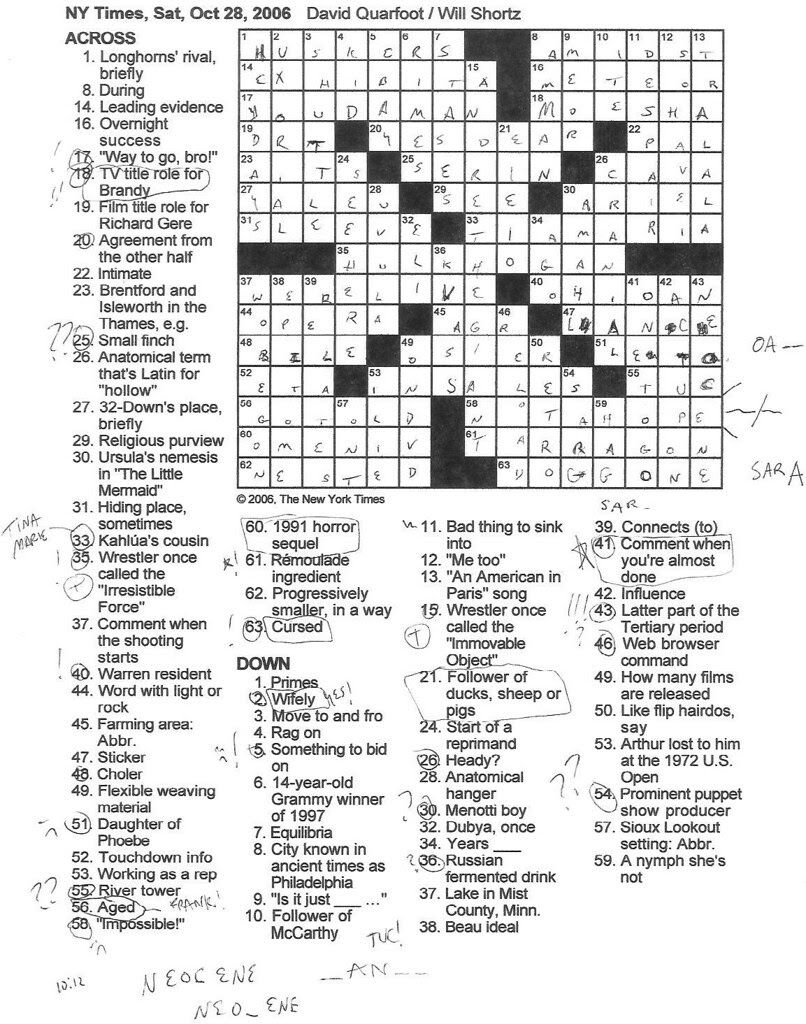 Rex Parker Does the NYT Crossword Puzzle: SATURDAY, Oct