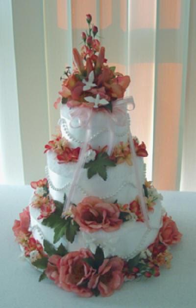 Fall Wedding Towel Cake Towels Wedding Cakes