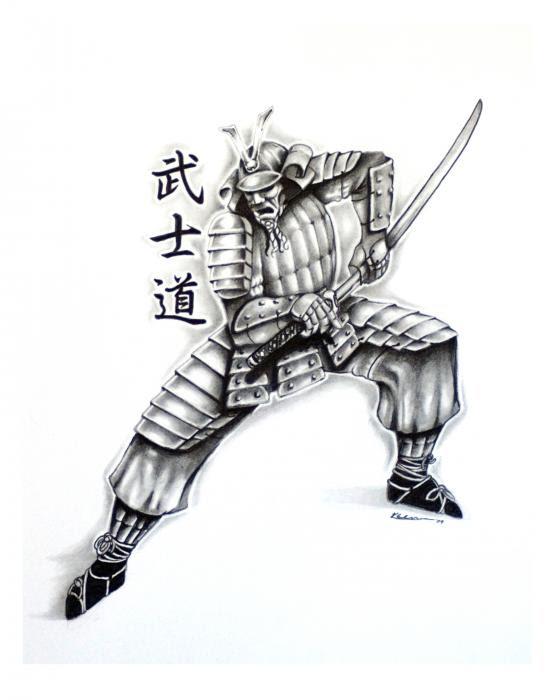 Tattoo Design: samurai sword tattoo