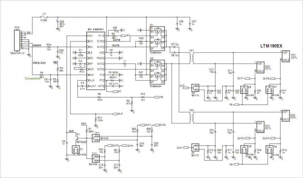 DRIVER CIRCUIT FOR LED BACKLIGHT