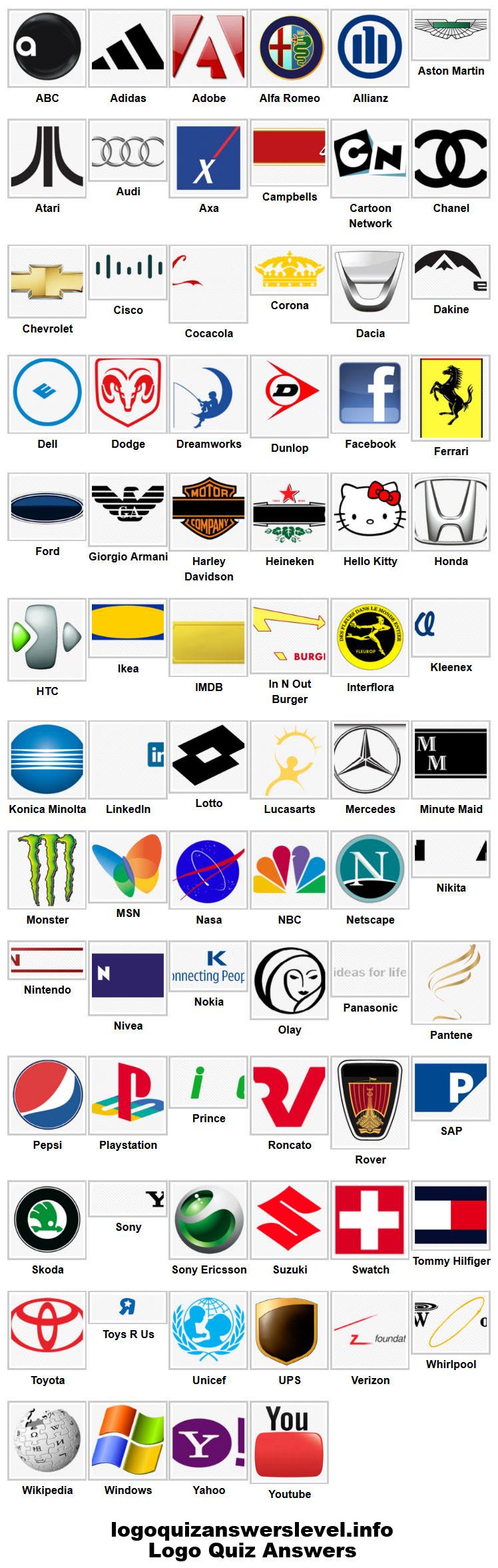 Logo Game Answers Level 2 : answers, level, Answers, Level, Internet