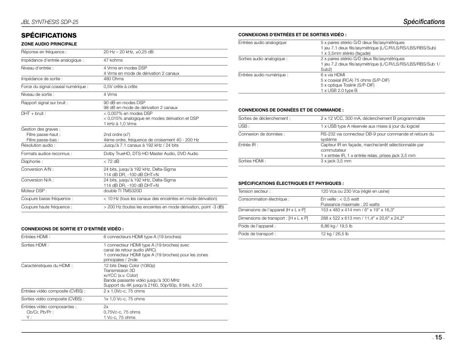 Mode Demploi Jbl 3