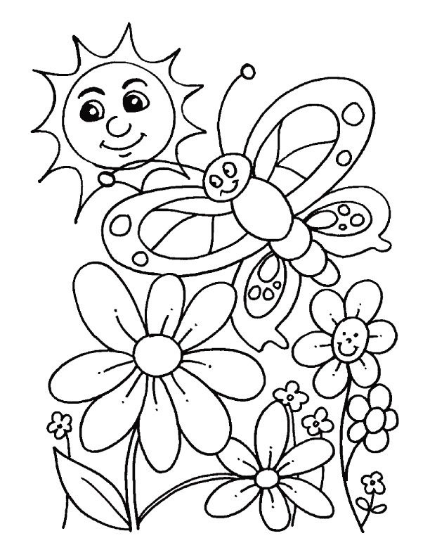 Scenery & Spring Pictures: Spring Pictures To Color