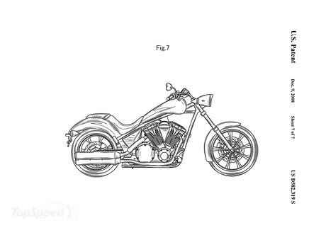 My Motorcycles News: Honda reveals patent images of their Fury