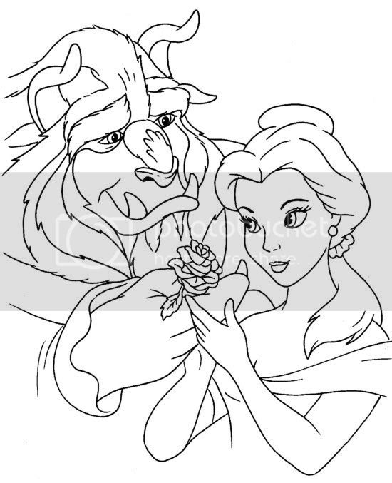 Colour Me Beautiful: Beauty and the Beast Colouring Pages