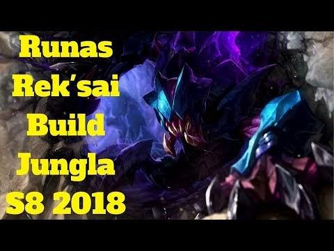 league of legends español: runas rek'sai build jungla s8 2018 reksai