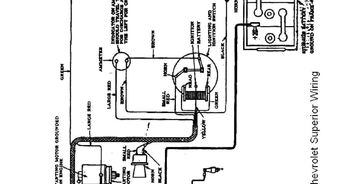 Wiring Diagram PDF: 1926 Chevrolet Wiring Diagram