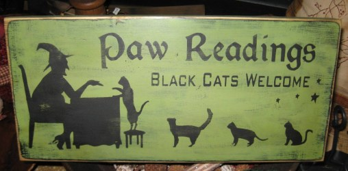 wiccan witch decor paw readings sign cat etsy wood items halloween pagan cats kitten popular pentagram handpainted plaque primitive hanging