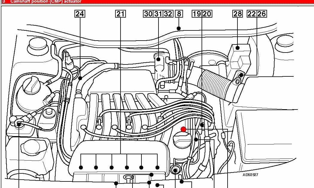 1999 Jetta 2 0 Engine Diagram : Where Is The Pcv Valve On