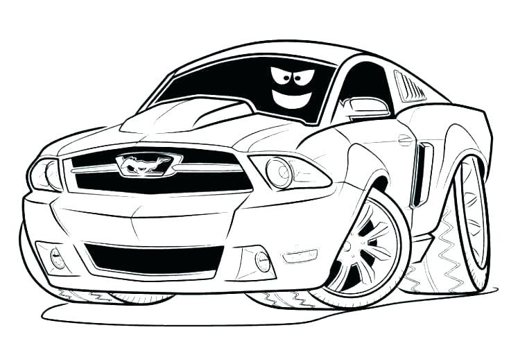 Ford Mustang Gt Ausmalbilder