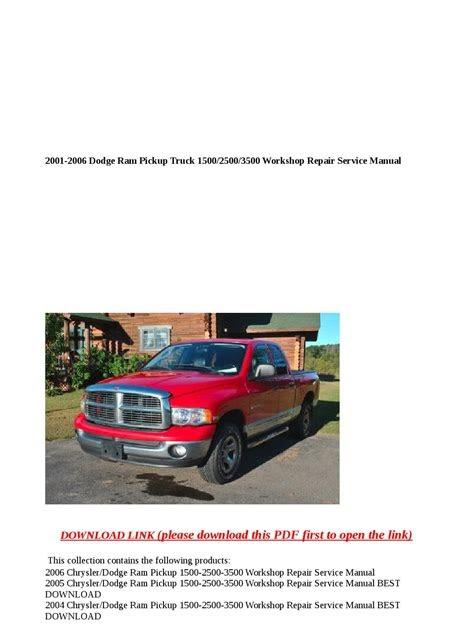 Download Kindle Editon dodge ram truck 2001 workshop