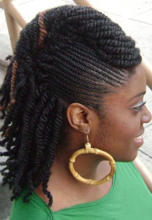35 Latest Natural Twist Mohawk Hairstyles