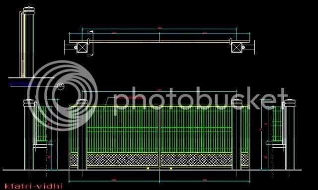 KYF BLOGs Contoh Gambar Pagar BRC dan Detailnya Cad