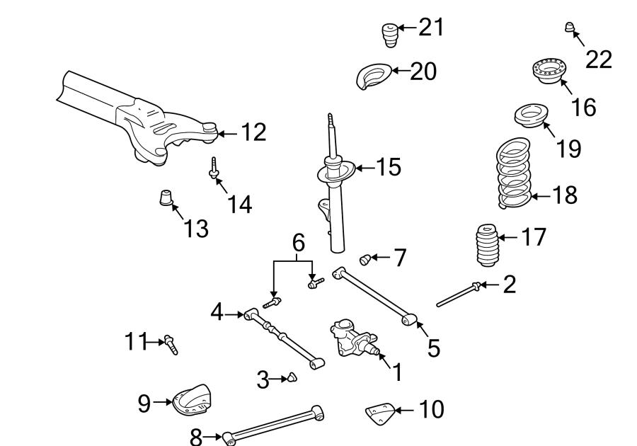 2004 Dodge Neon Rear Suspension Diagram / Repair Guides