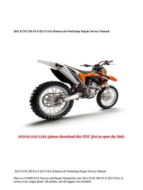 Download 2011 ktm 350 sx f eu usa motorcycle workshop