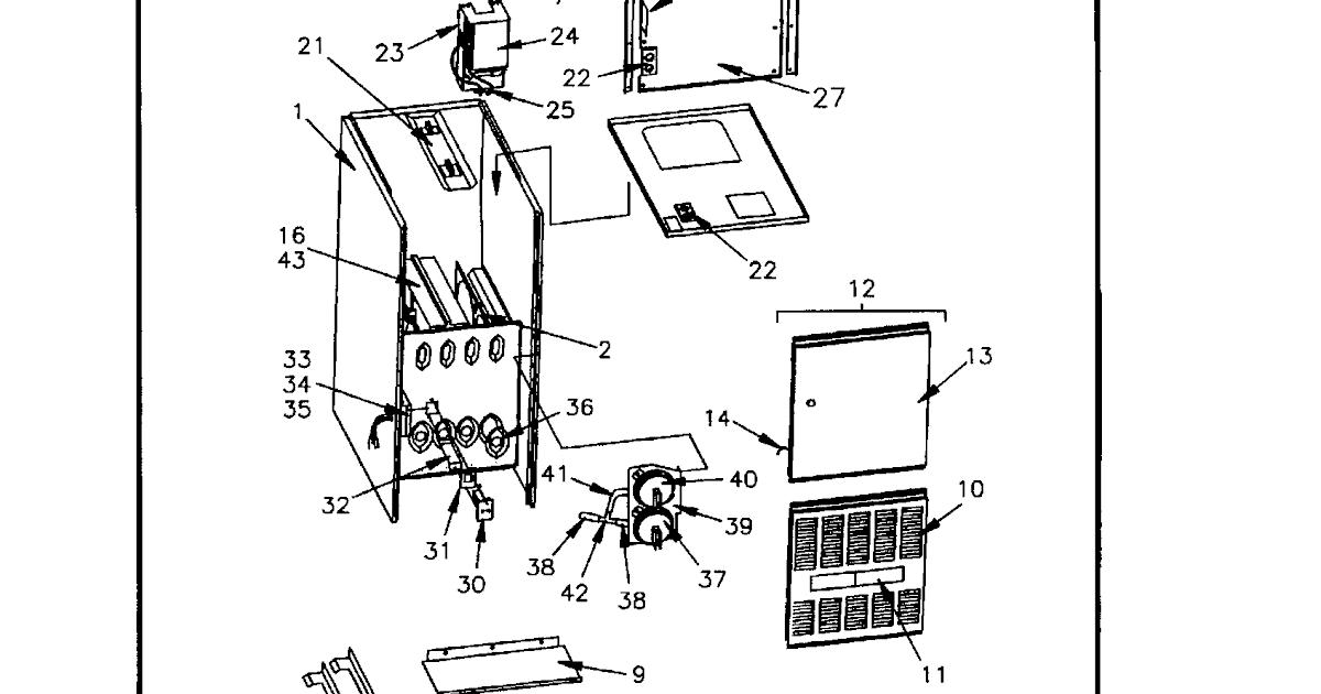 Wiring Diagram: 30 Trane Furnace Parts Diagram