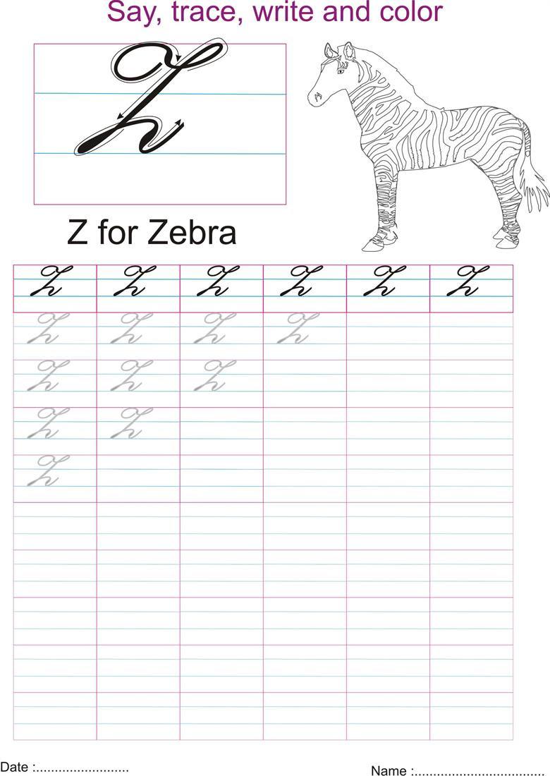 Cursive Capital Z : cursive, capital, Cursive, Capital, Letters, Letter