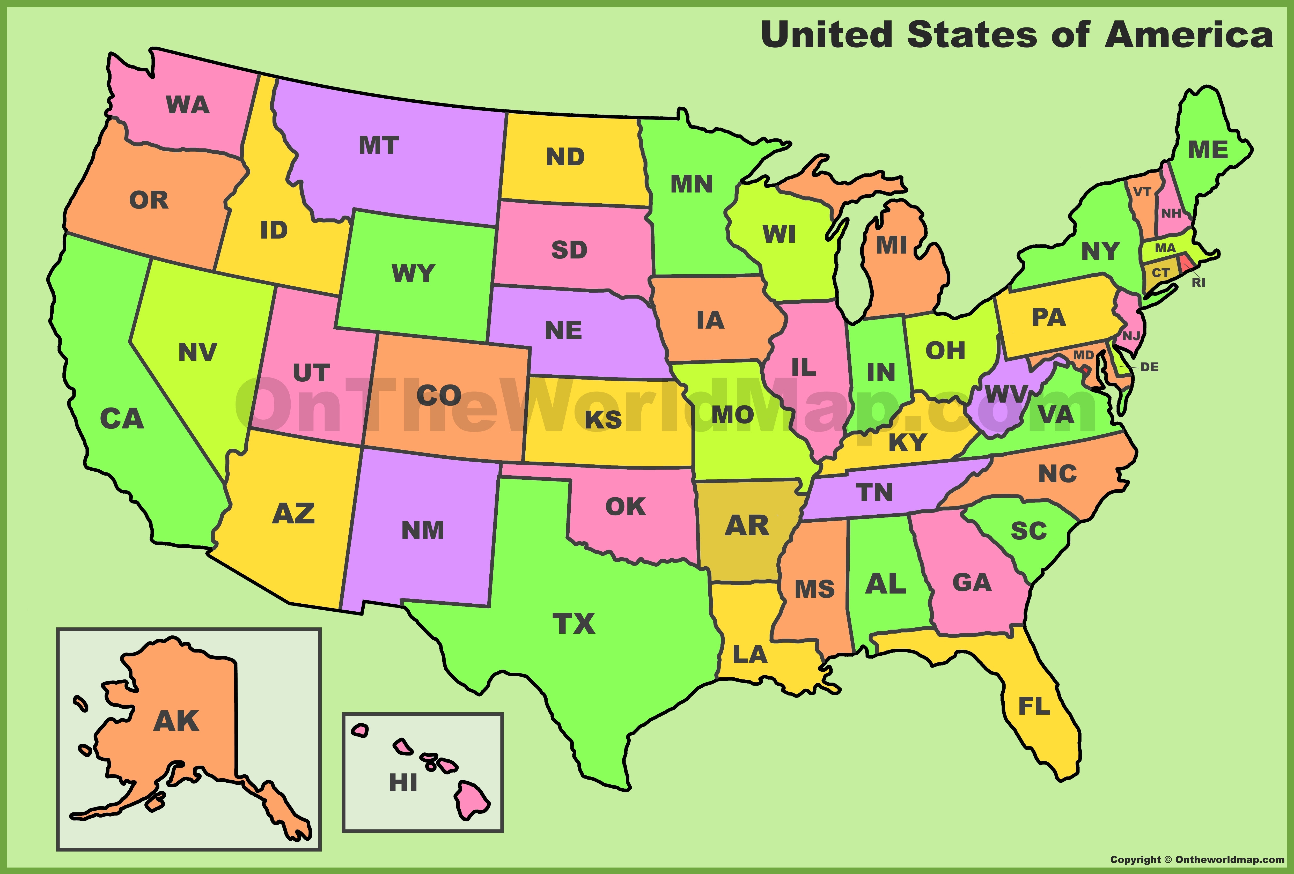 A lot of people can come for enterprise, while the relaxation concerns review. Us State Abbreviations Map