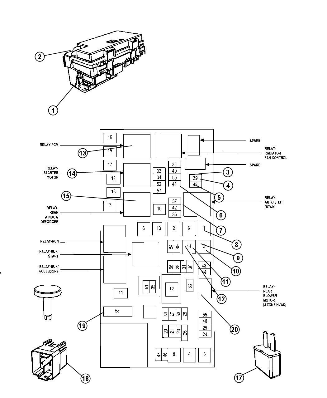 2000 Dodge Intrepid Fuse Box Location
