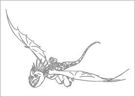 Ausmalbild Drachenzahmen Leicht Gemacht 2   Cartoon Bild