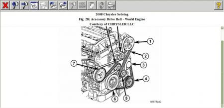 Wiring Diagram: 33 2008 Chrysler Sebring Serpentine Belt