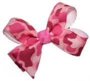 hair bows baby size pink camo
