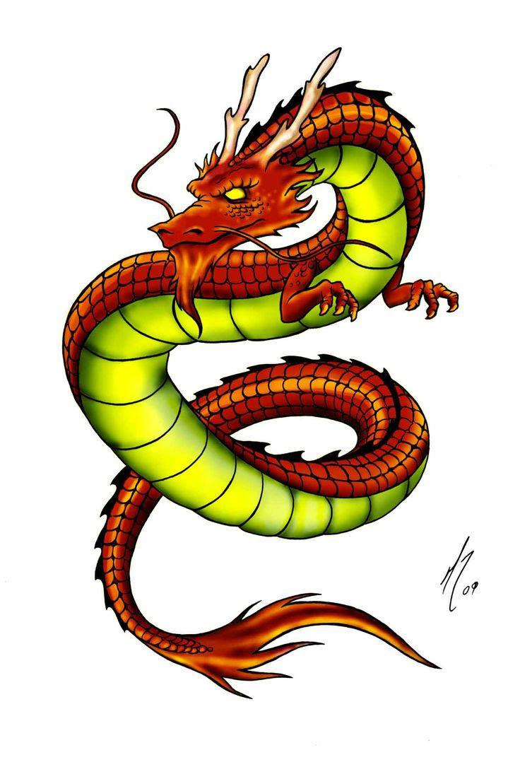 Dragon Drawing Color : dragon, drawing, color, Colored, Drawings, Dragons, Drawing, Ideas
