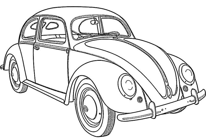 AusmalbilderHQ: ausmalbilder autos vw