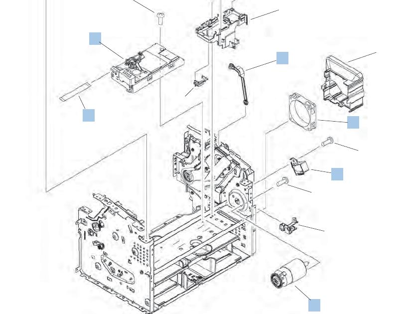Hp Laserjet 1536Dnf Mfp Parts Diagram / Hp Laserjet