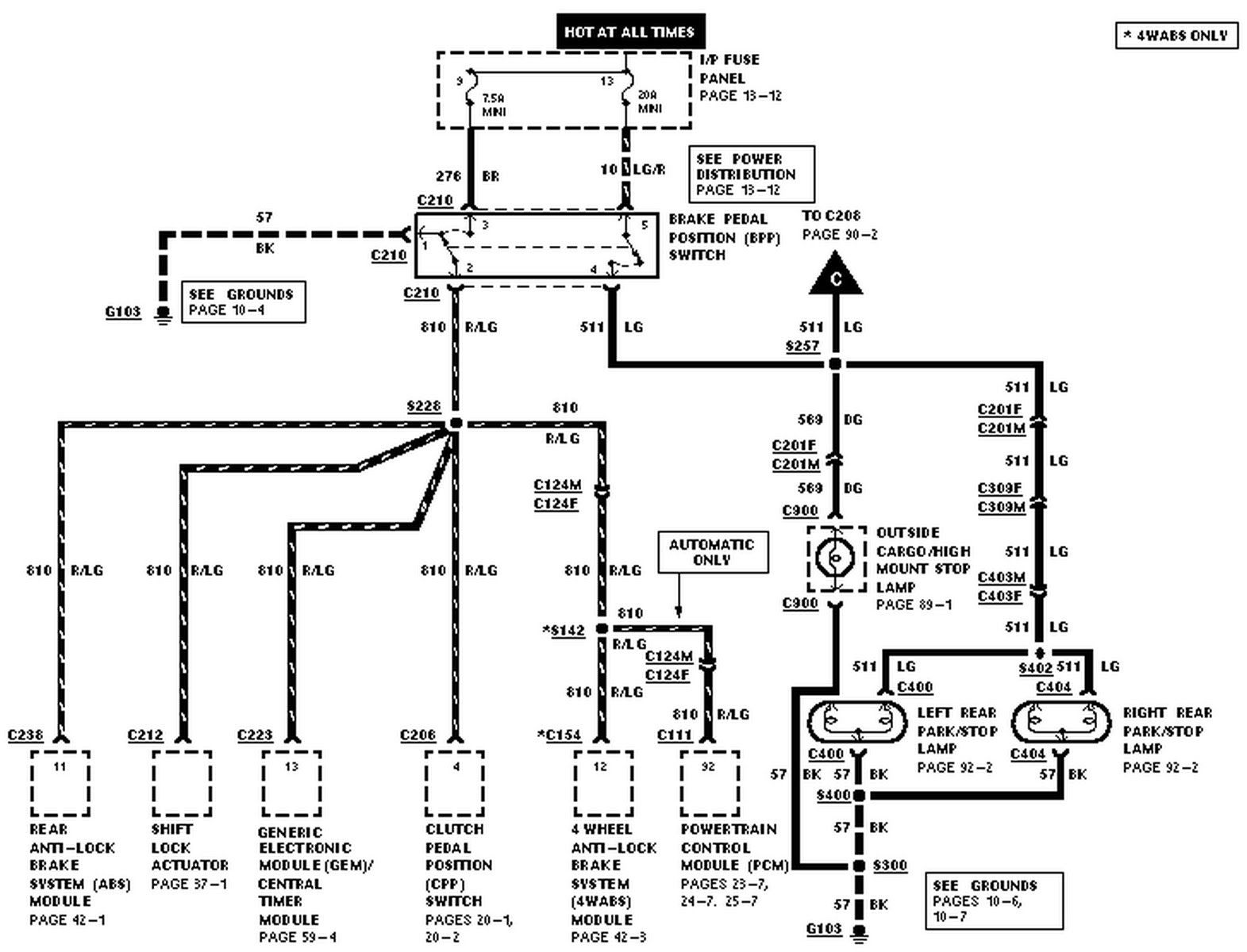 98 Ford Explorer Wiring Diagram / 98 ford Explorer Radio