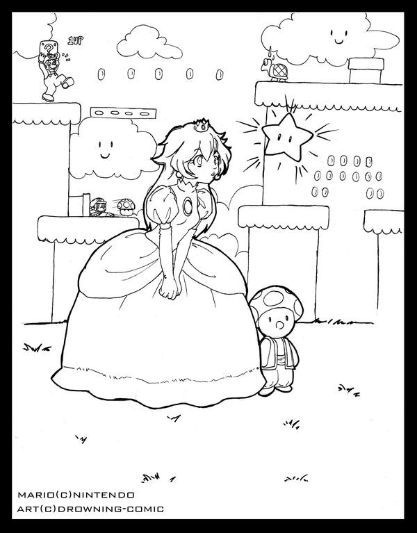 pamuqa: princess peach coloring pages