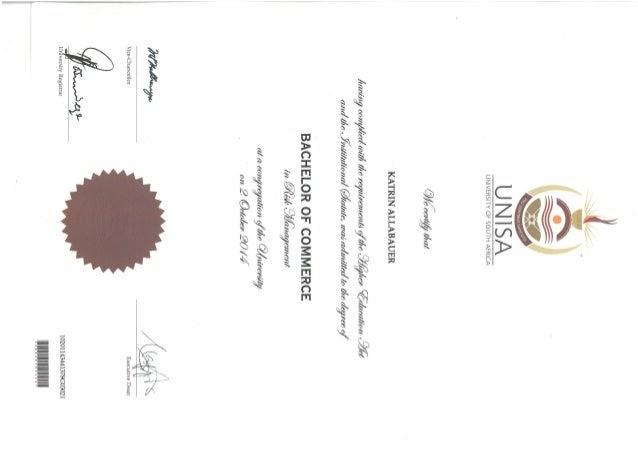 GiulianadyConforti: Accounting diploma At Unisa