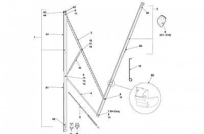 Wiring Diagram: 7 Dometic 9100 Power Awning Parts Diagram