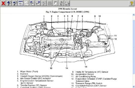 2005 Hyundai Accent Coolant Temperature Sensor Location