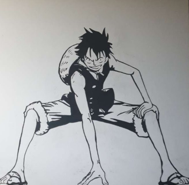 Luffy's left hand doesn't look like luffy. One Piece Wallpaper One Piece Luffy How To Draw