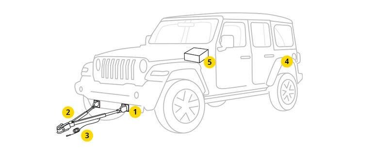 Jeep Jl Flat Tow Wiring Harness / 2019 Jeep Wrangler Jl