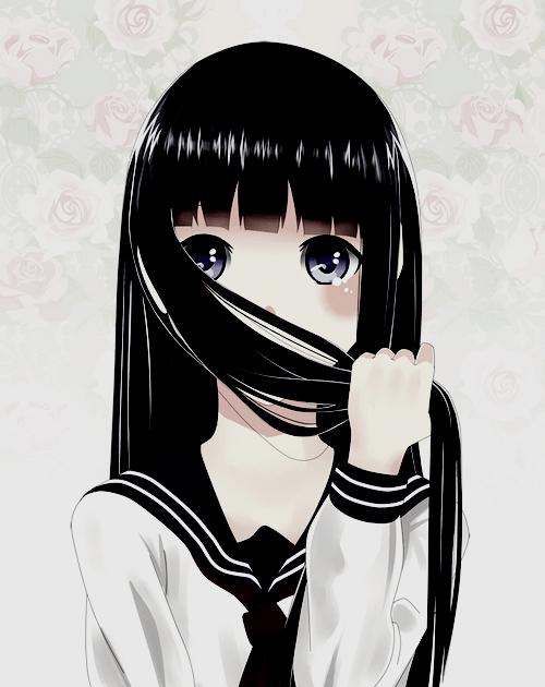 Anime Girl With Long Black Hair And Bangs : anime, black, bangs, Trends, Anime, Black, Bangs, Elegance, Nancy