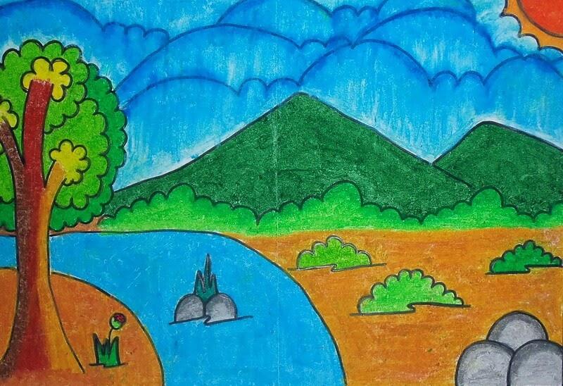 83+ Ide Gambar Pemandangan Alam Kelas 2 Sd, Sketsa Pemandangan