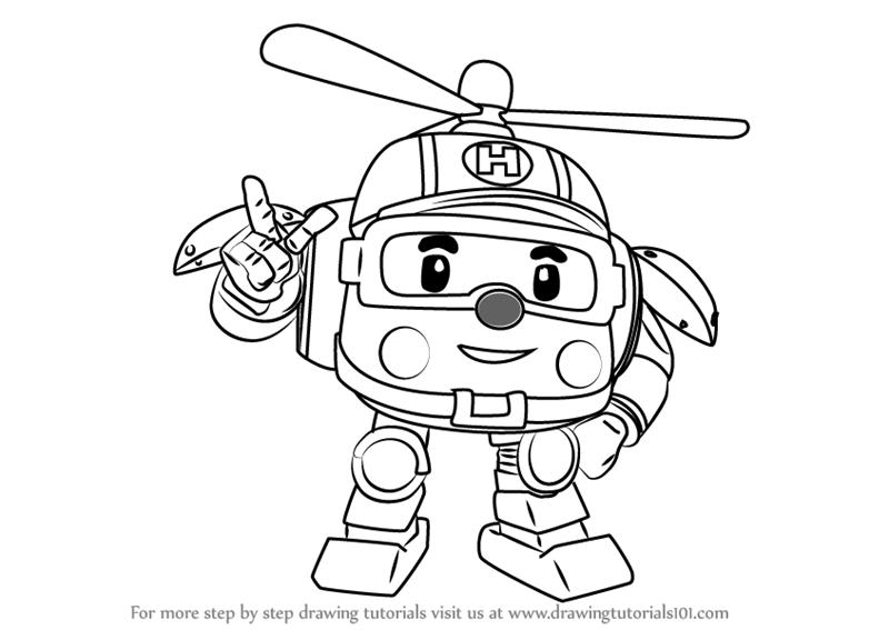 Mewarnai Gambar Robot Poli