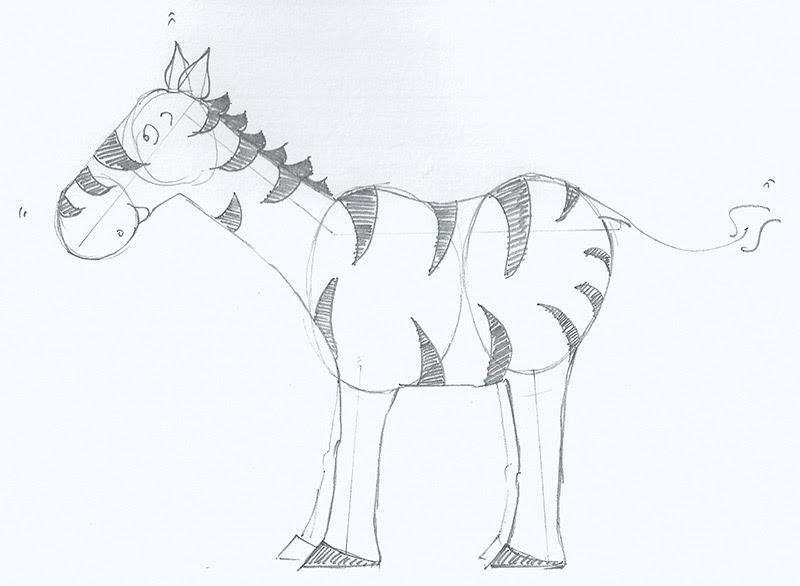Roy Blog: How to draw Roy the Zebra...