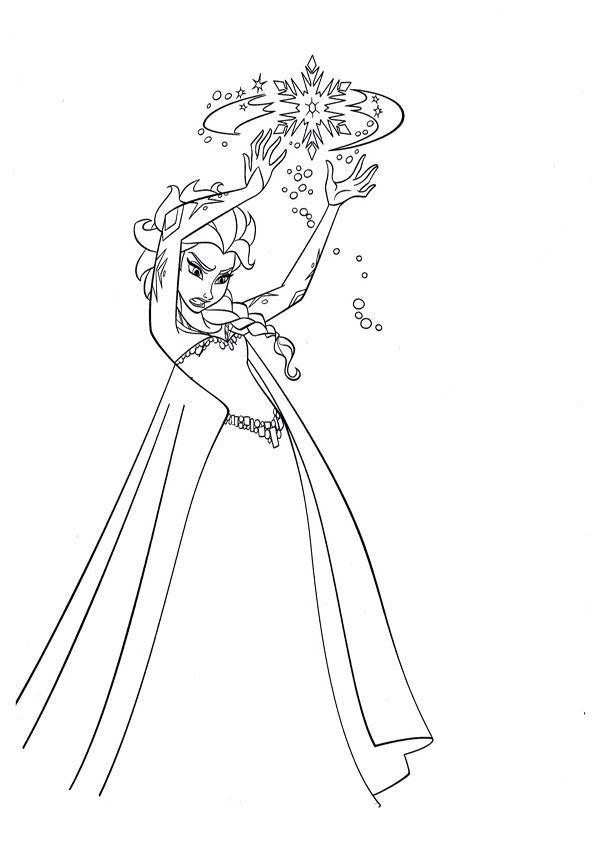 Malvorlage Zum Ausdrucken Elsa - Malbild